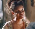 Nos capítulos desta semana, Zayla descobrirá que Samuel é acusado de matar o pai de Tonico. Tudo começará quando, na segunda, ela escutar uma conversa dos pais dizendo que a carta de alforria do rapaz é falsa | TV Globo