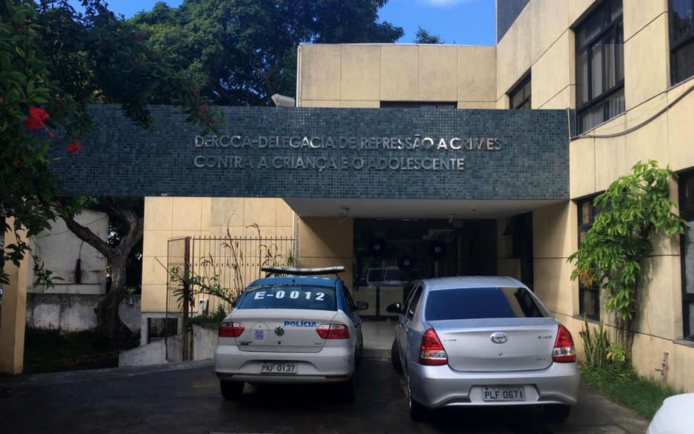 Delegacia de Repressão a Crimes Contra a Criança e o Adolescente (Dercca), em Salvador  â?? Foto: Maiana Belo/G1