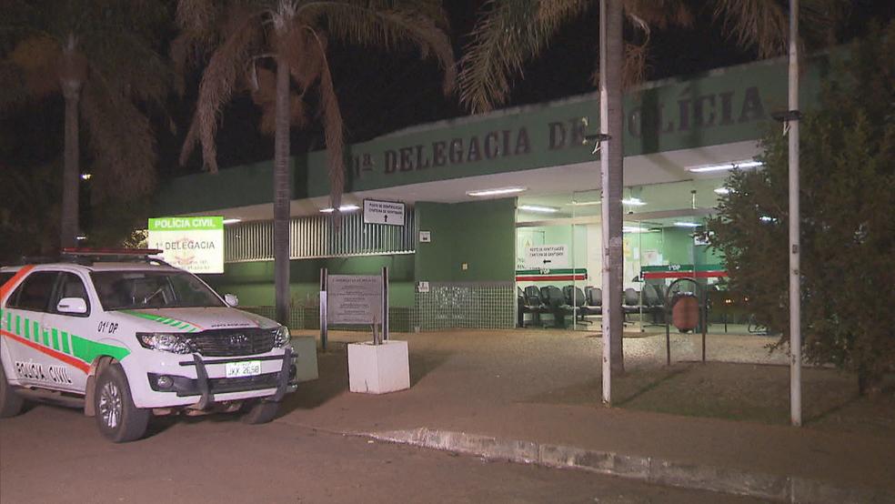 1ª DP, em Brasília (Foto: Reprodução/TV Globo)