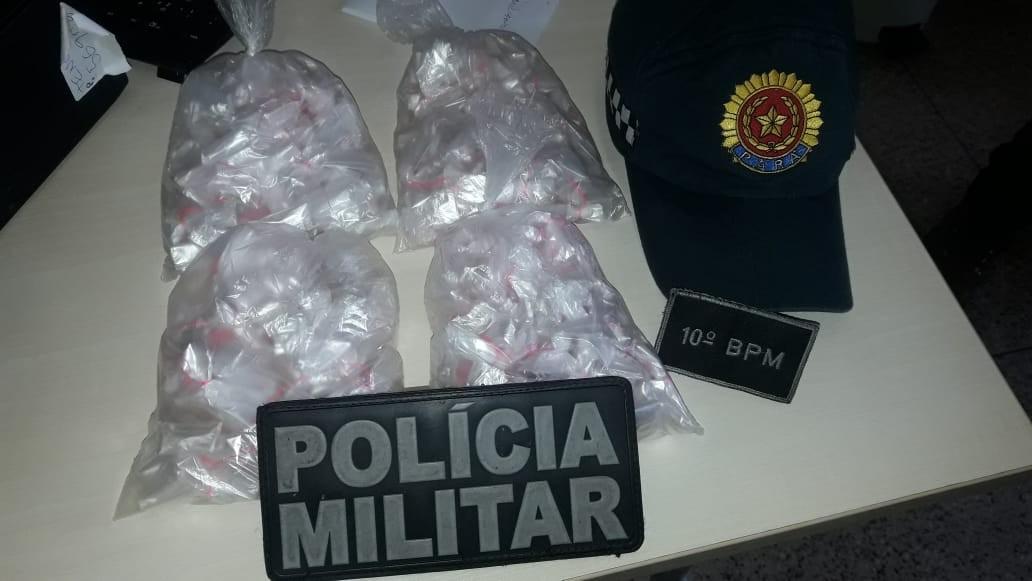 Dupla é presa com 193 pacotes de cocaína no bairro do Tenoné, em Belém