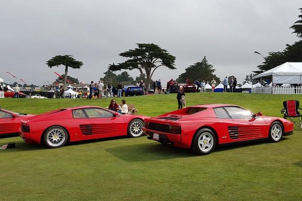 Ferrari Testarossa e suas sucessores reunidas (Foto: Julio Cabral/Autoesporte)