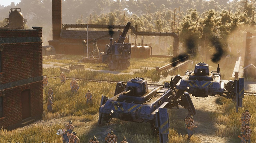 """Iron Harvest traz uma base tradicional de jogo de estratégia em um instigamente mundo no estilo """"Diesel Punk"""" — Foto: Reprodução/Steam"""