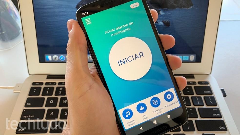 Aprenda a usar o app Não toque em meu telefone para evitar intrusos — Foto: Reprodução/Helito Beggiora