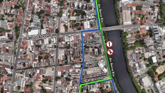 Implantação de binário provoca mudança de trânsito na Zona Oeste do Recife