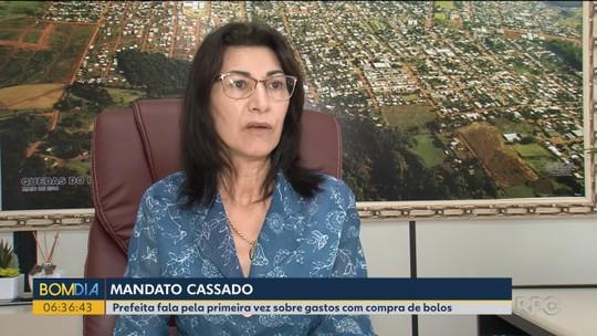 'Um absurdo', diz prefeita de Quedas do Iguaçu sobre a cassação pela compra de 6,5 toneladas de bolo