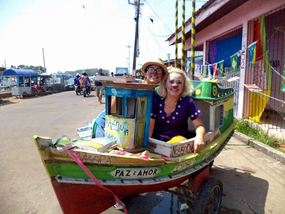 Barco das Letras começa roteiro em Macapá, no Igarapé das Mulheres (Foto: Reprodução/Facebook)