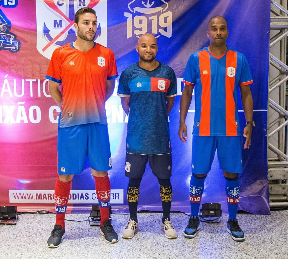 5730af1434613 ... Marcílio Dias lança uniformes para 2019 com homenagem aos 100 anos do  clube