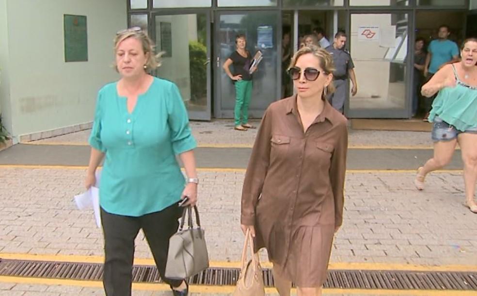 Dárcy Vera foi alvo de vaias de visitantes e funcionários na última vez que esteve no Fórum de Ribeirão Preto (Foto: Sérgio Oliveira/EPTV)