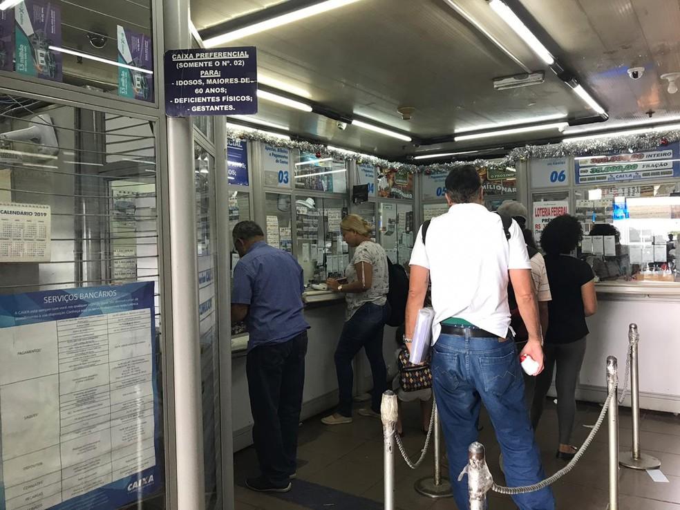 Casa lotérica na Rodoviária do Plano Piloto, em Brasília, nesta quarta-feira (26) — Foto: Hamanda Viana/G1