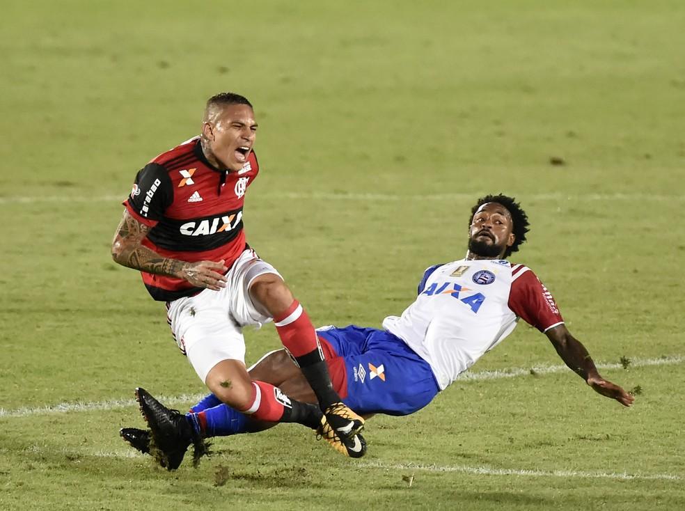 Último jogo de Guerrero pelo Flamengo foi contra o Bahia, em outubro do ano passado (Foto: André Durão)
