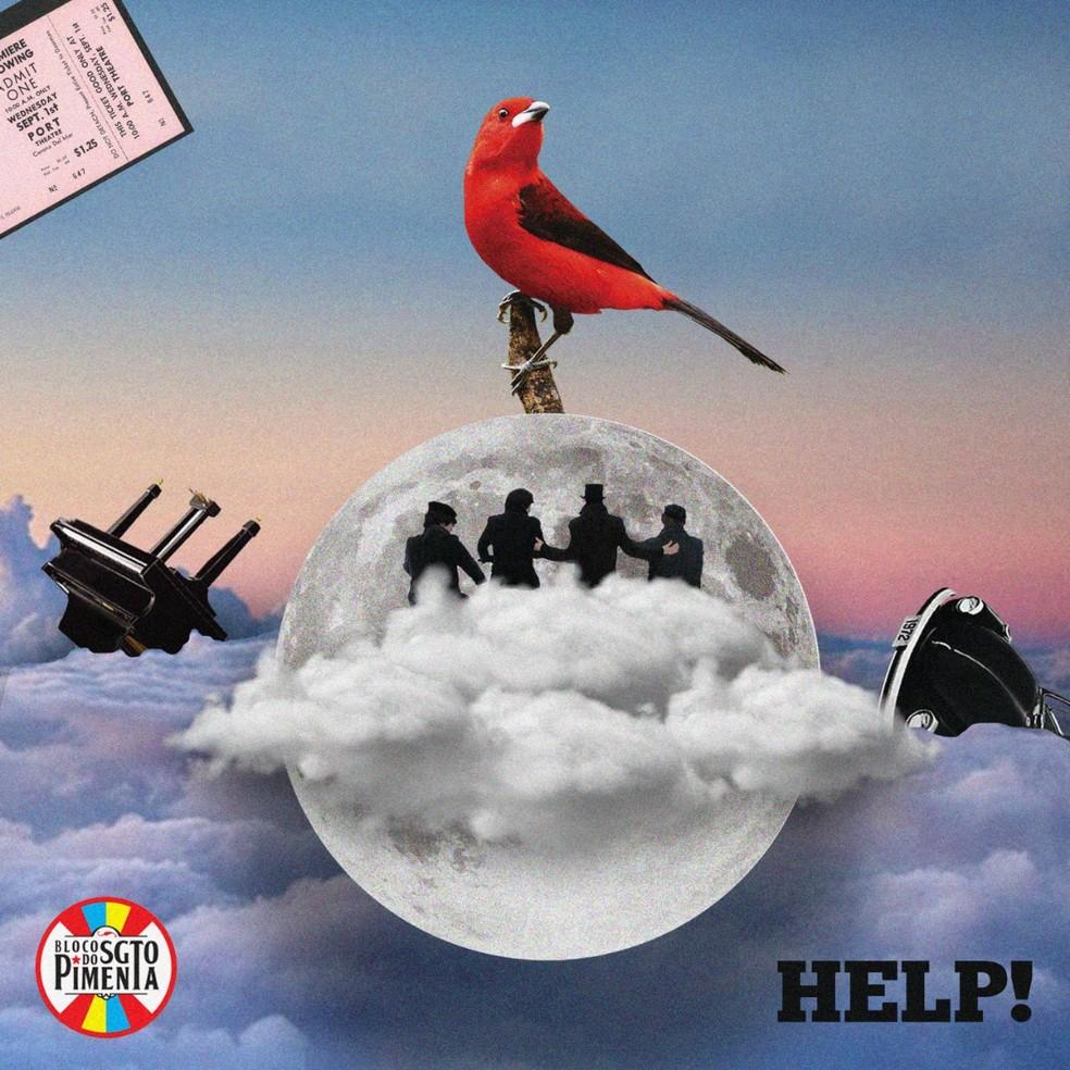 Capa do single 'Help!', do Bloco do Sargento Pimenta — Foto: Arte de Yuri Amorim
