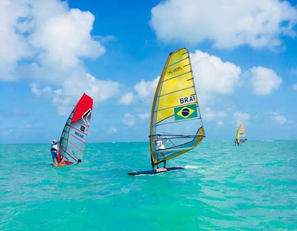 Windsurf volta a ser destaque nas praias de Maceió — Foto: Divulgação