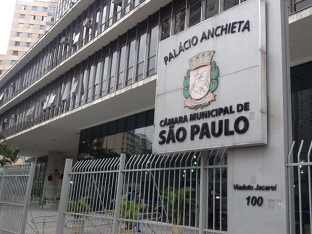 Fachada da Câmara Municipal de São Paulo (Foto: Roney Domingos/G1)