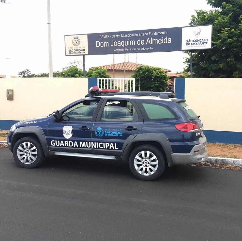 Guarda Municipal foi acionada e apreendeu adolescentes em São Gonçalo do Amarante, na Grande Natal — Foto: Cedida