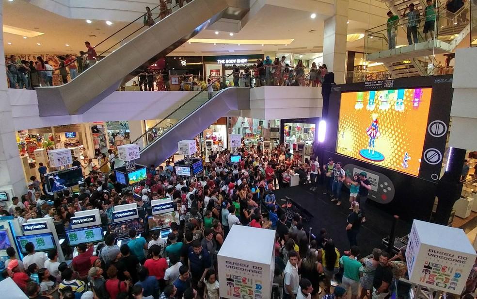 Museu do Videogame Itinerante em shopping — Foto: Divulgação