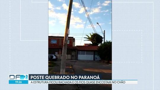 Caminhão bate em poste no Paranoá