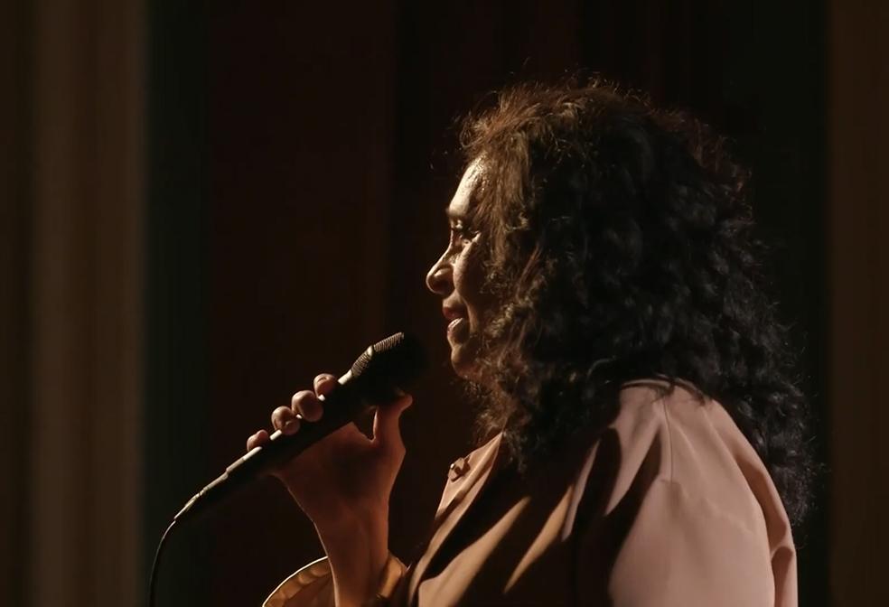 Gal Costa na live 'Gal 75' — Foto: Reprodução