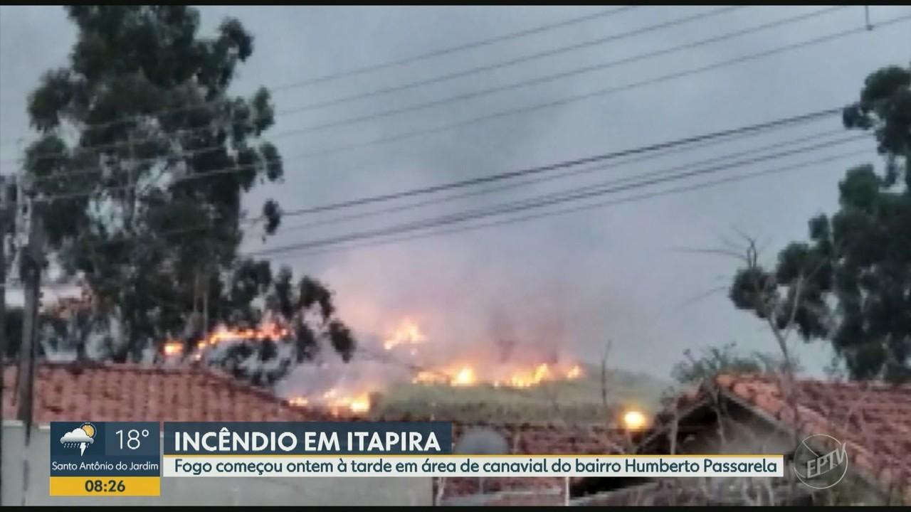 Incêndio em área de mata preocupa moradores de Itapira