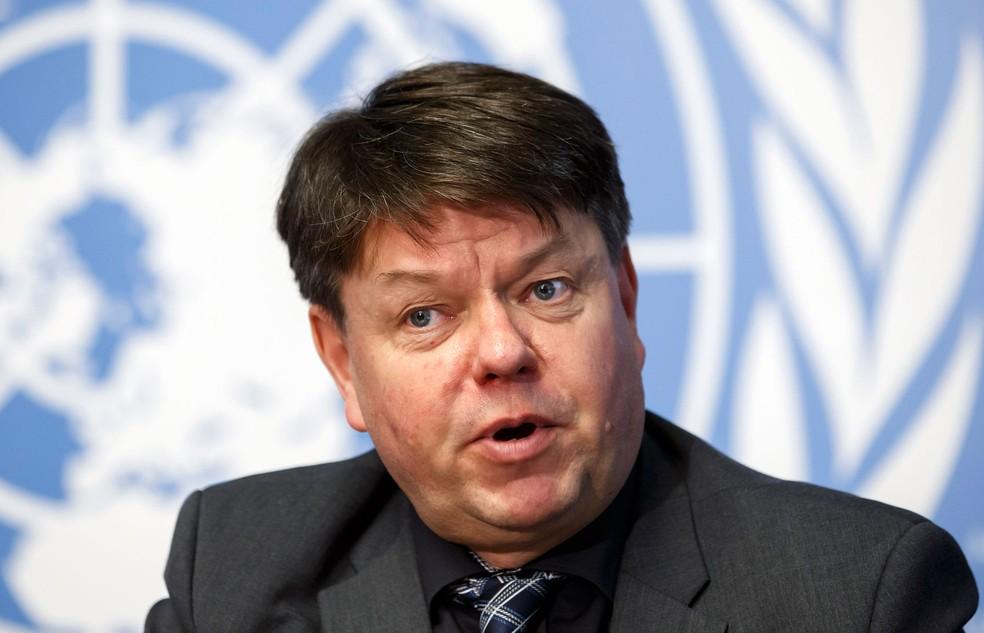Petteri Taalas, secretário-geral da World Meteolorogical Organization (Foto: Salvatore Di Nolfi/Keystone/AP)