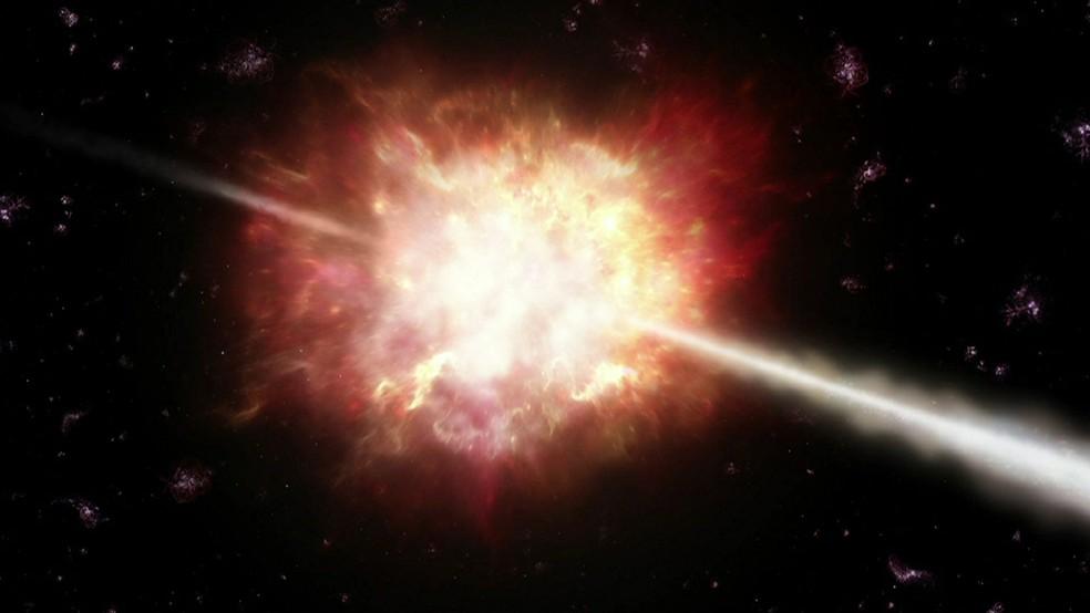 Chances de observar uma 'Erupção de Raios Gama' é de 1 em cada 10.000 (Foto: Reprodução/BBC)