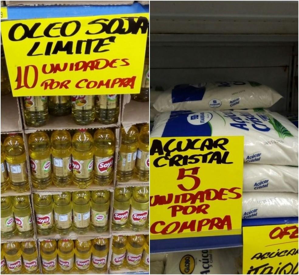 Supermercado impõe limite para garantir abastecimento de itens essenciais (Foto: Divulgação)