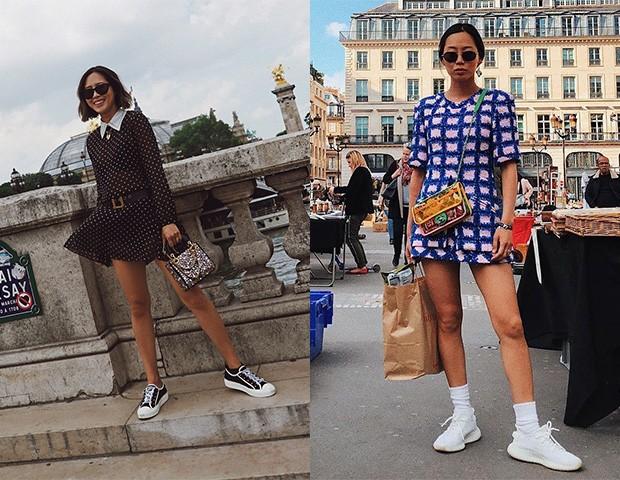 Aimee Song também adora combinar um vestido com tênis no dia a dia  (Foto: Instagram / Aimee Song)