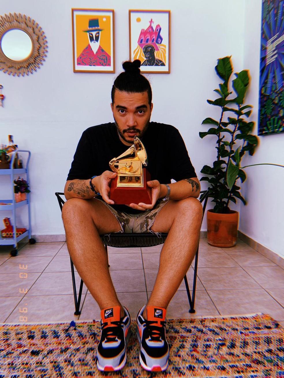 Nave Beatz levou o Grammy após produção de álbum do Emicida — Foto: Divulgação