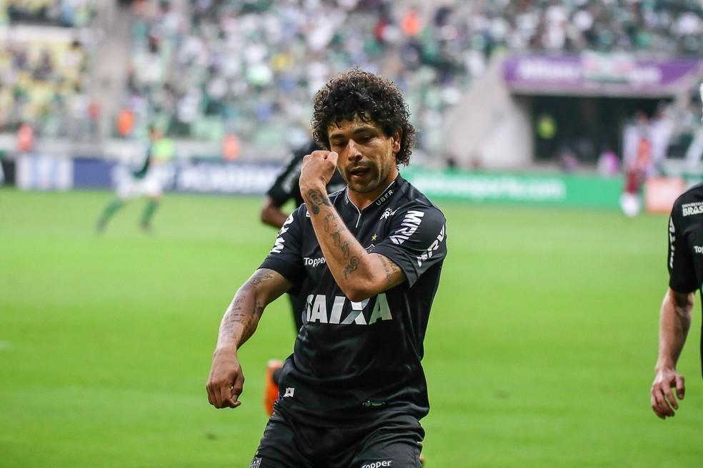 Na temporada, Laun fez cinco gols e deu quatro assistências — Foto: Bruno Cantini/ Atlético-MG