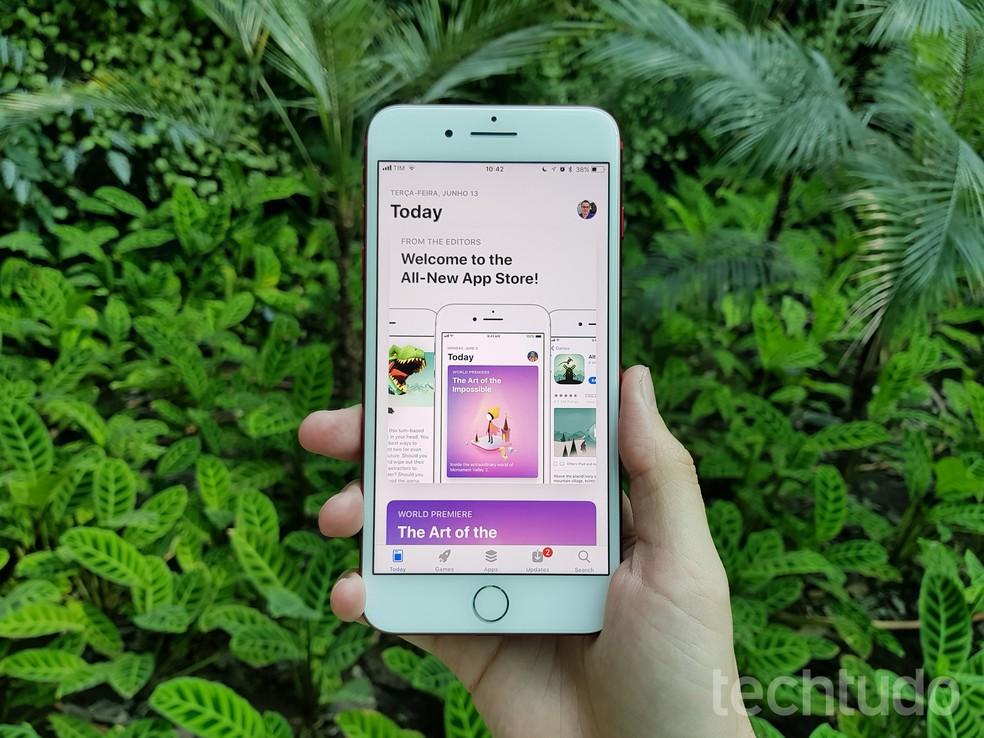 Nova App Store no iOS 11 (Foto: Thássius Veloso/TechTudo)