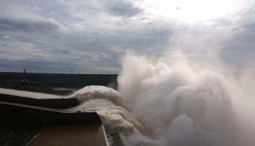 Do início do mês até as 9h deste domingo (28), a Usina de Itaipu havia produzido 8,41 milhões de megawatts-hora.  (Foto: Usina de Itaipu/Divulgação)