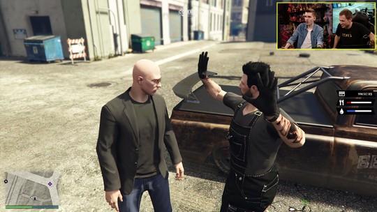 Confira o gameplay estendido de 'GTA V' com Tiago Leifert e Lipãogamer no 'Zero1'