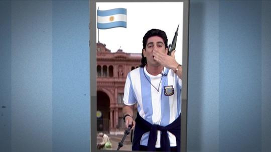Soy Loco por Copa América: Adnet imita torcedor argentino no intervalo de Argentina x Colômbia