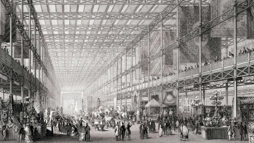 Em 1851, Londres sediou a 'Grande Exposição das Obras da Indústria de Todas as Nações' — Foto: Getty Images