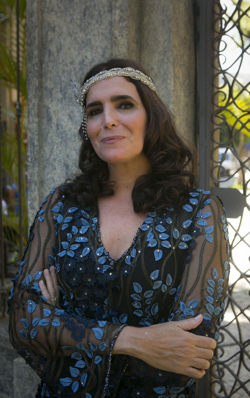 Malu Mader revive Ester Delamare, a Baronesa de Sobral, depois de quase 19 anos (Foto: Rapha Dias/TV Globo)
