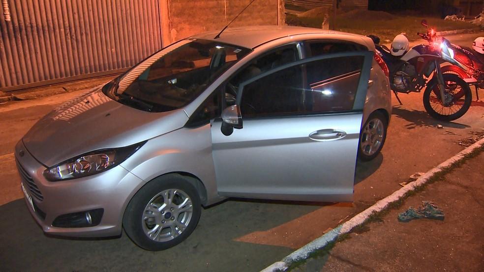 Veículo foi recuperado após ter sido deixado em uma rua em Planalto — Foto: Reprodução/TV Gazeta