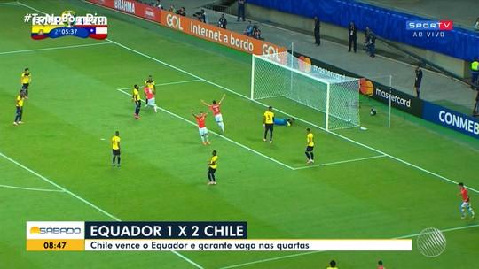 Copa América 2019: seleção chilena vence o Equador na Arena Fonte Nova