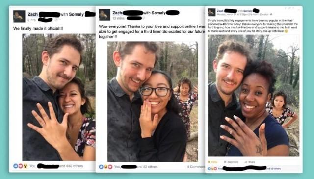 Zach e suas muitas 'noivas'