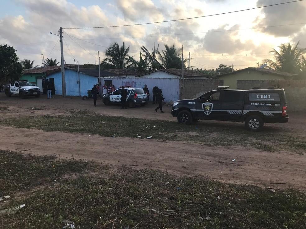 Homem morre em confronto com a Polícia em São Gonçalo do Amarante. — Foto: Polícia Civil