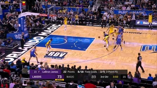 Com grande atuação coletiva, Magic quebra série invicta de quatro jogos dos Lakers