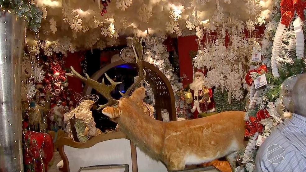 Casa do Papai Noel é reinaugurada depois de 12 anos em Campo Grande (Foto: Reprodução/TV Morena)