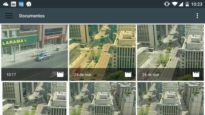 Microsoft Hyperlapse Mobile abrirá a galeria do Android para que usuário selecione vídeo (Foto: Reprodução/Elson de Souza)