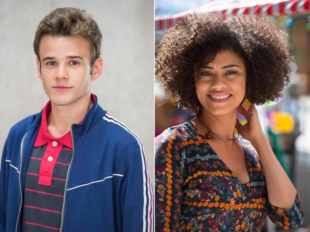 Hall Mendes como Jota e Ana Flávia Cavalcanti como Dóris em Malhação (Foto: Globo/Mauricio Fidalgo/Estevam Avellar)
