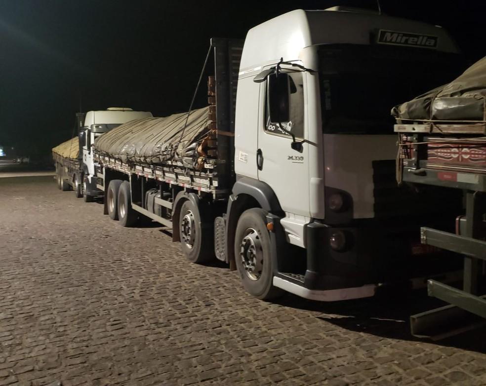 Cerca de 100 toneladas de manganês seria transportado — Foto: Divulgação/ Polícia Civil