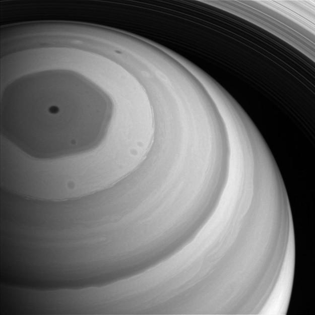 Hexágono de Saturno (Foto: NASA/JPL-Caltech/Space Science Institute)