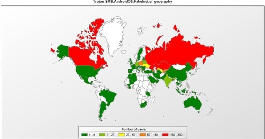 Trojan de SMS criado na Rússia atinge o Brasil e muitos outros países