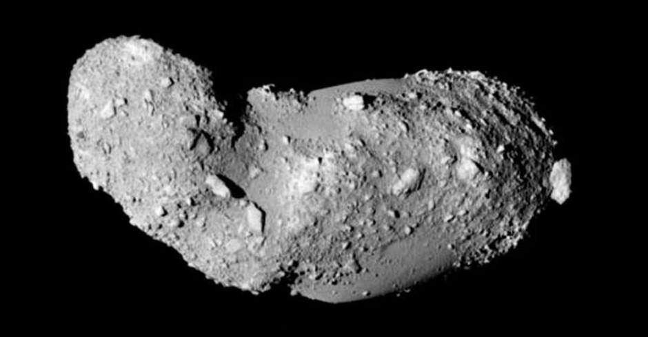 Itokawa visto pela sonda Hayabusa  (Foto: ISAS)