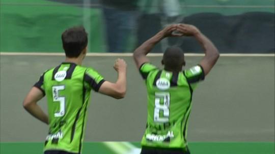 Os gols de América-MG 1 x 1 Grêmio pela 30ª rodada do Campeonato Brasileiro