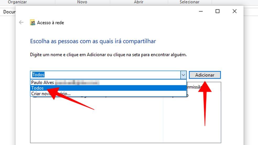 Adicione todos os usuários à lista — Foto: Reprodução/Paulo Alves