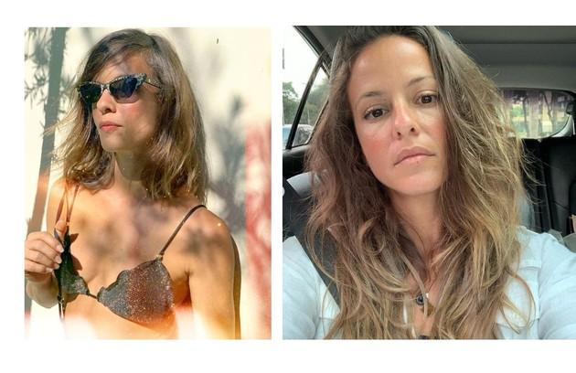 Fernanda de Freitas colocou aplique para a personagem que fará par com Reginaldo Faria (Foto: Reprodução)
