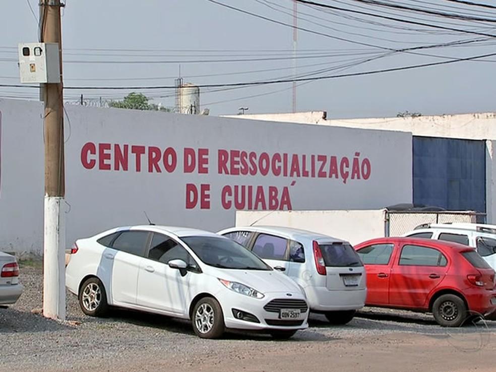Centro de Ressocialização de Cuiabá (CRC), antigo Presídio do Carumbé, Mato Grosso — Foto: Reprodução/TVCA